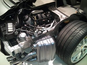 Porsche Motor (Typ X51) im Heck eines 911